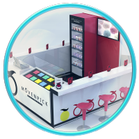 Стойка с мороженым, моделирование и  визуализация.