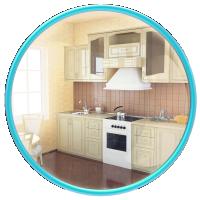 Кухня 802. Моделирование по чертежам и последующая визуализация.