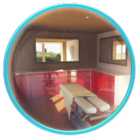 Визуализация комнаты отдыха и массажной в бане.