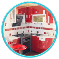 Кухня 801. Моделирование по чертежам и последующая визуализация.