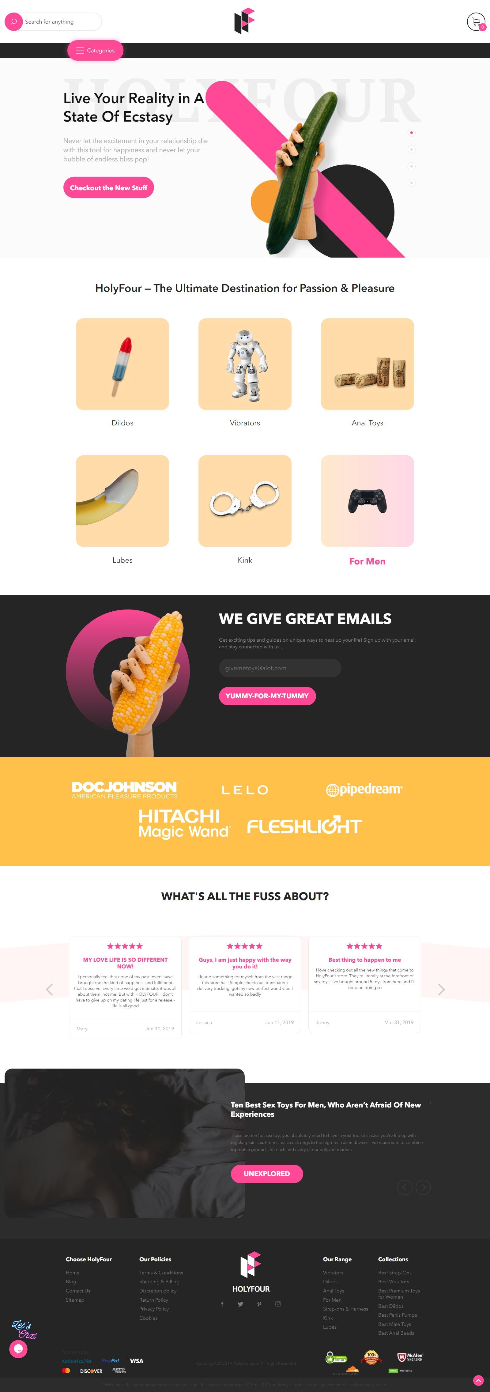 Holyfour.com - интернет-магазин интим-товаров в США