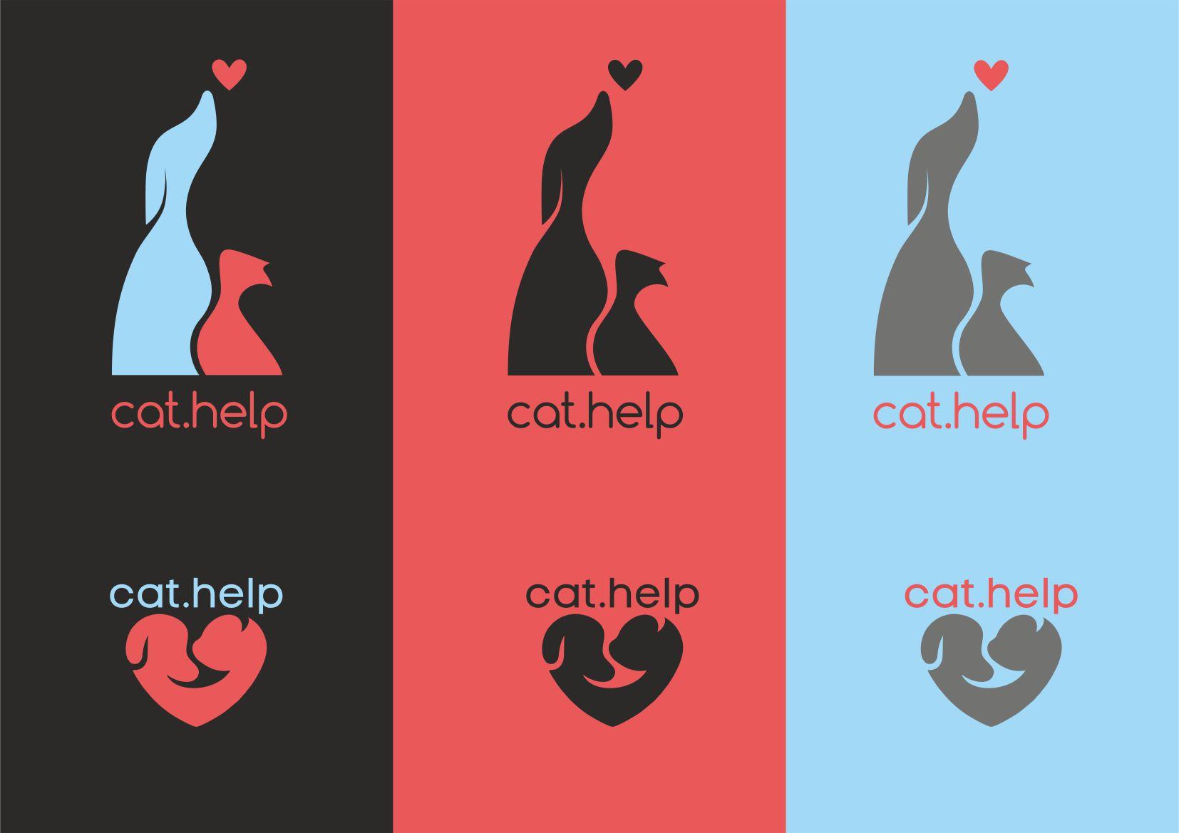 логотип для сайта и группы вк - cat.help фото f_21059e2d24c9f54d.jpg