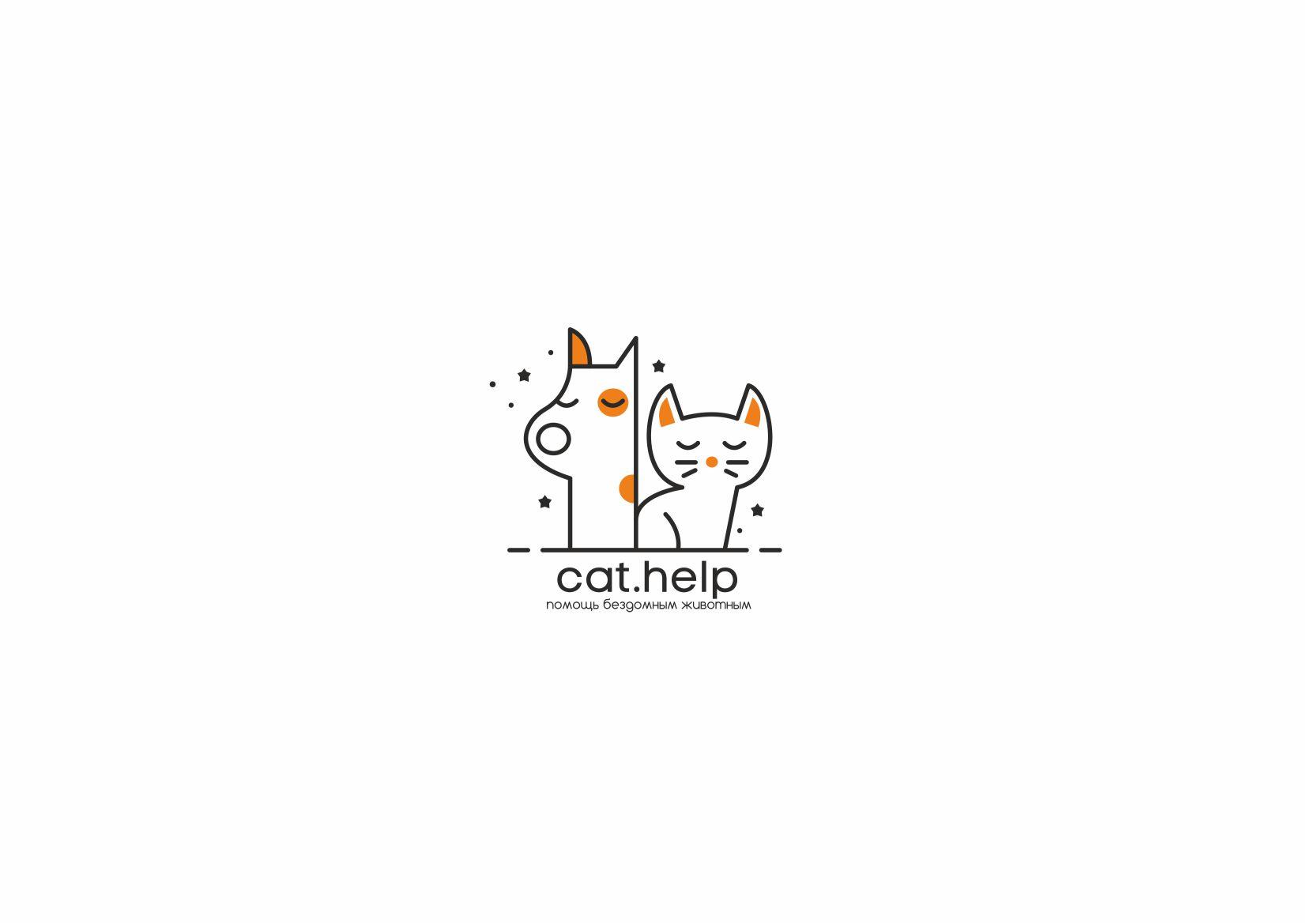 логотип для сайта и группы вк - cat.help фото f_64859e2ba4c8ed21.jpg