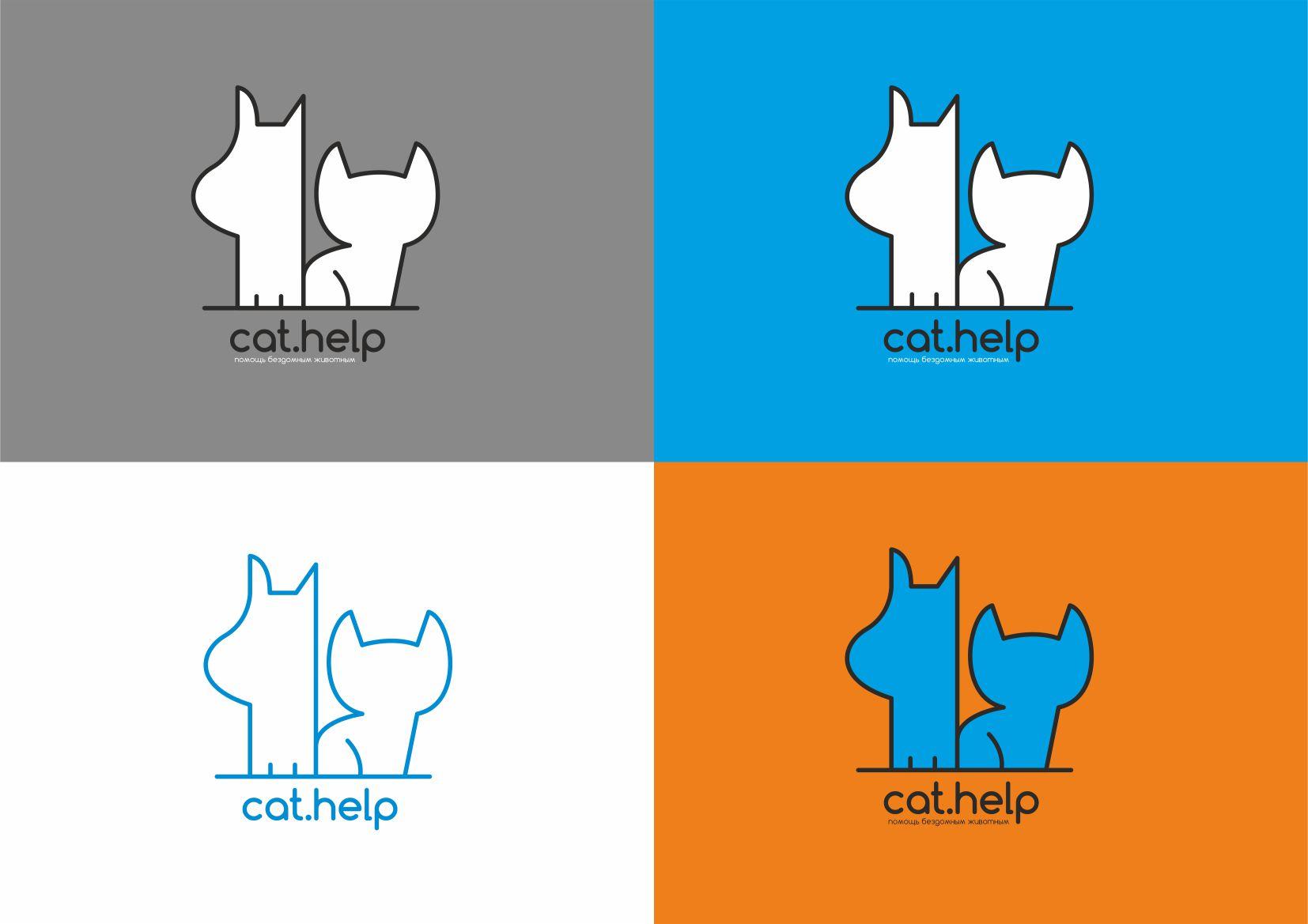 логотип для сайта и группы вк - cat.help фото f_88659e2c7a44da8d.jpg