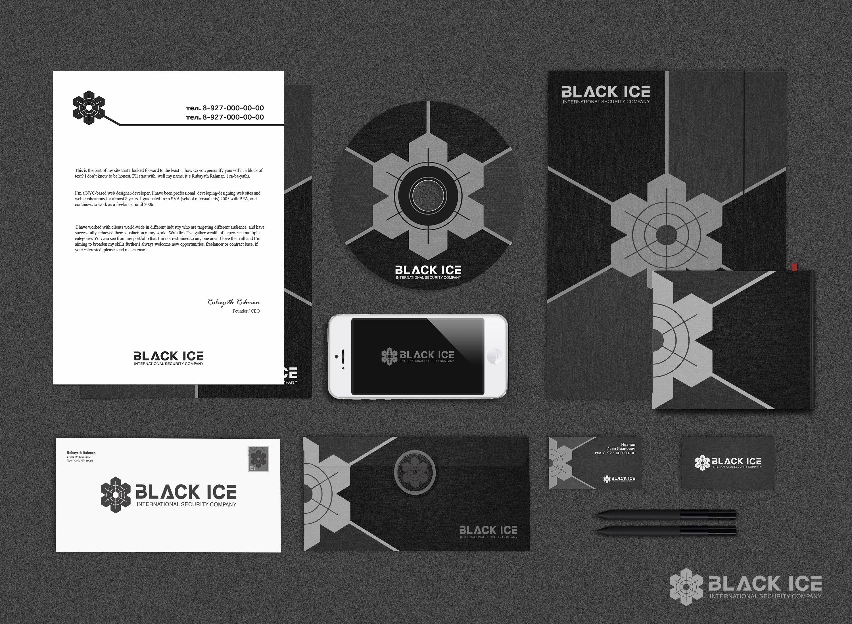 """Логотип + Фирменный стиль для компании """"BLACK ICE"""" фото f_4175718a898cdb12.jpg"""
