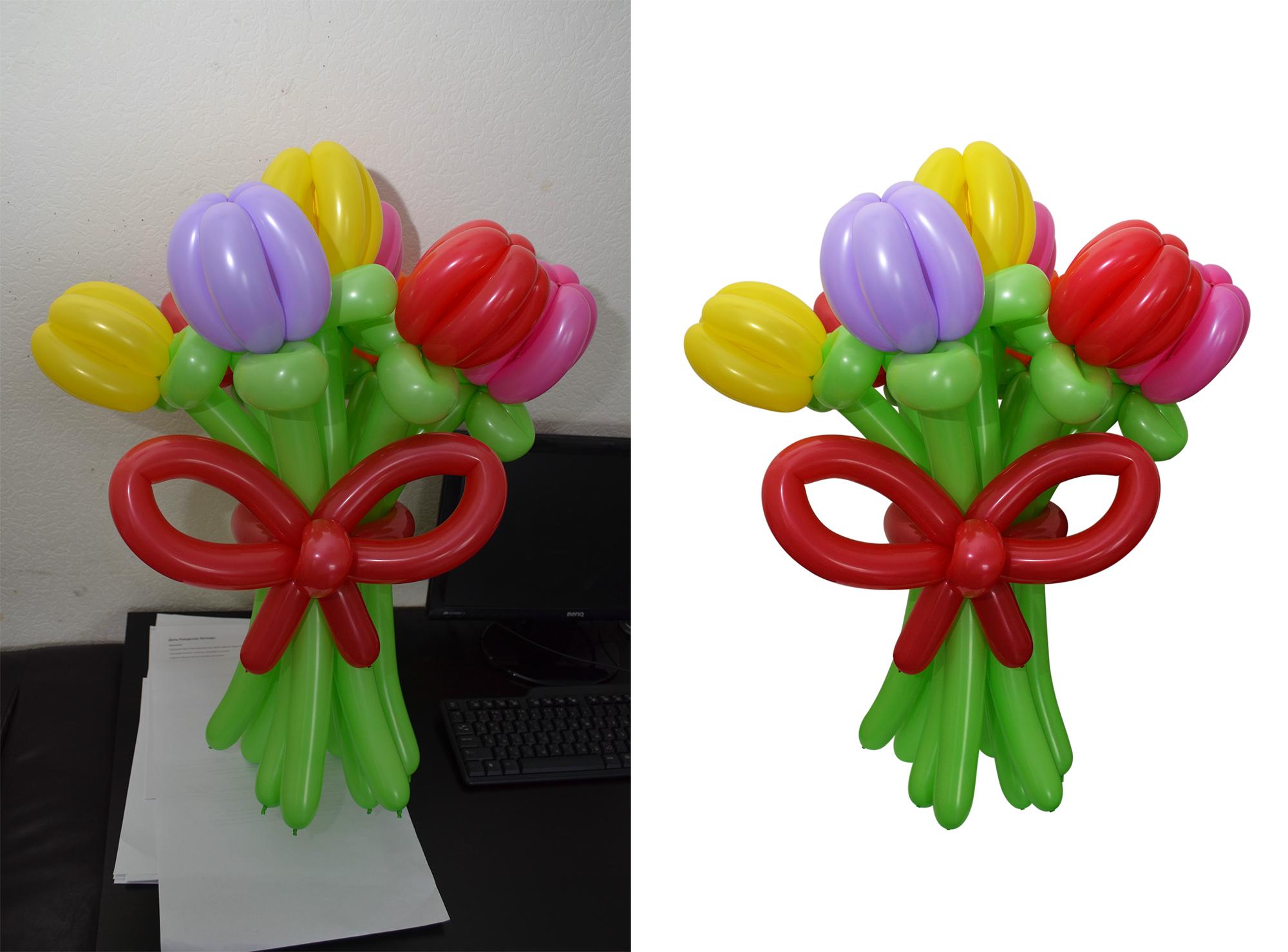 Обтравка воздушных шаров