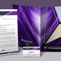 Создание фирменного бланка организации «Tetraedr»