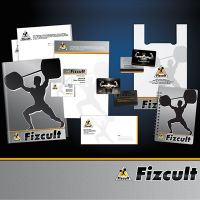 Логотип и фирменный стиль для «Fizcult»