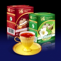Дизайн упаковки чая «Золотой змей»
