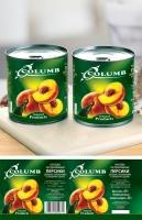 Дизайн этикетки персиков «Columb»