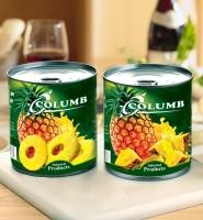 Дизайн этикетки ананасов «Columb»