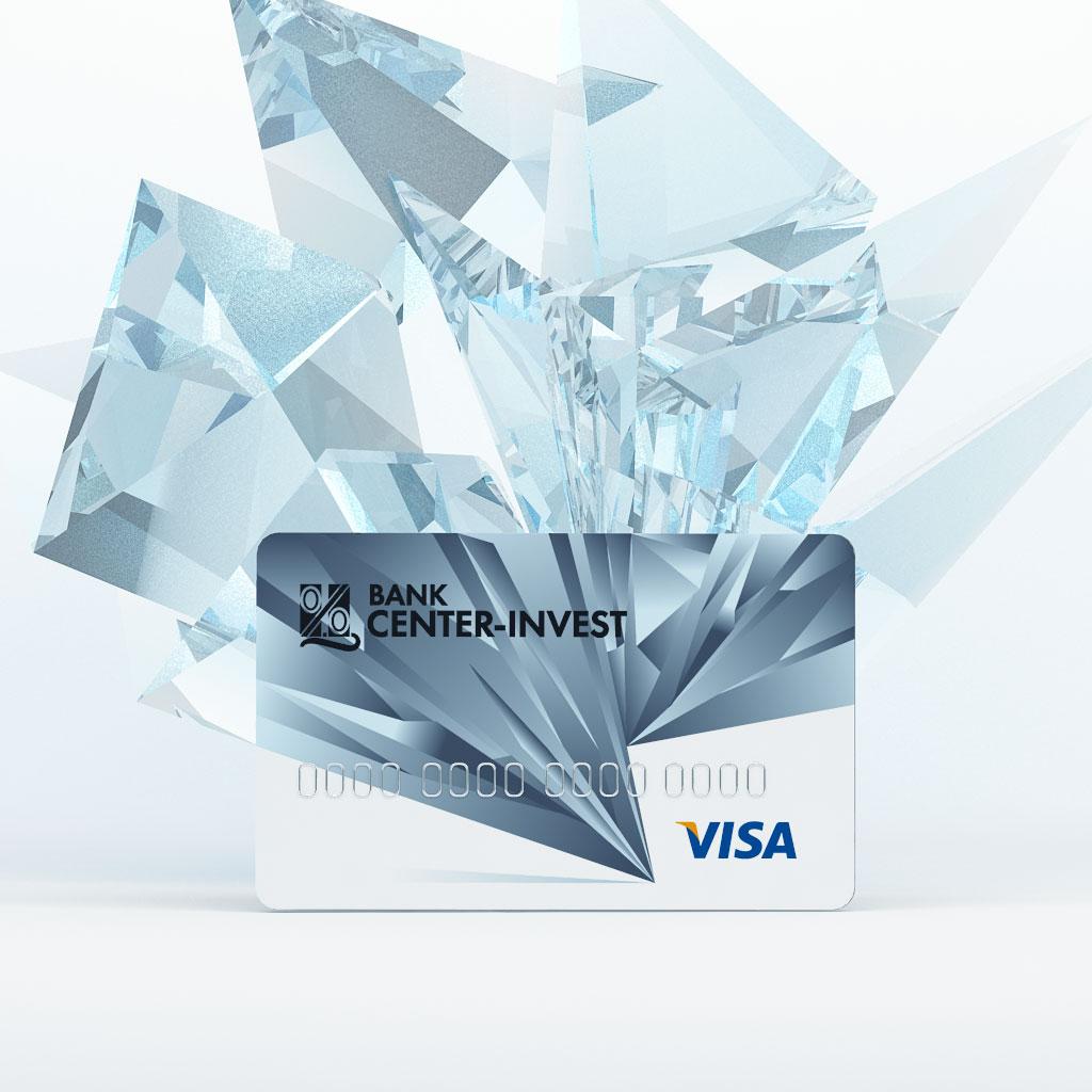 Дизайн Платиновой пластиковой карты для Банка «Центр-Инвест»