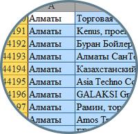 Собрать базу компаний по городу Алматы