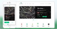 UX & UI десктопной и мобильной версий сайта, лого и иконки для веб магазина чая