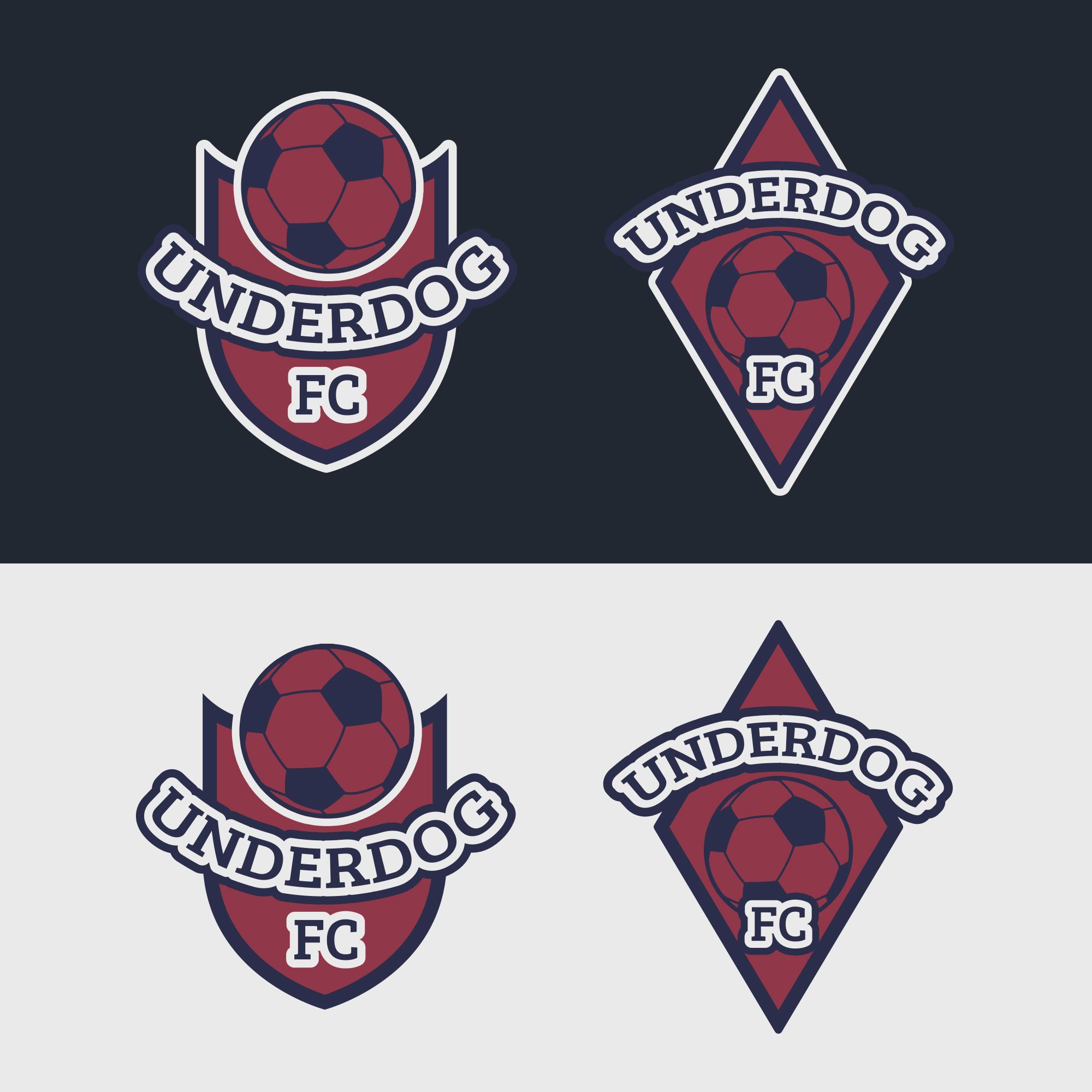 Футбольный клуб UNDERDOG - разработать фирстиль и бренд-бук фото f_6235cb08073bd541.jpg