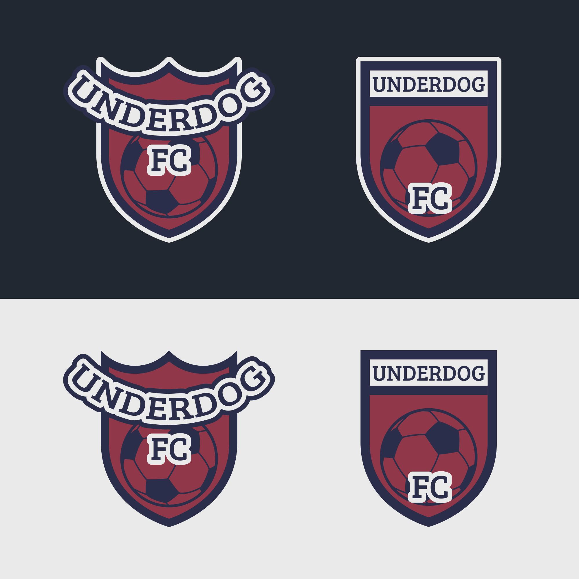 Футбольный клуб UNDERDOG - разработать фирстиль и бренд-бук фото f_7545cb0807a7c435.jpg