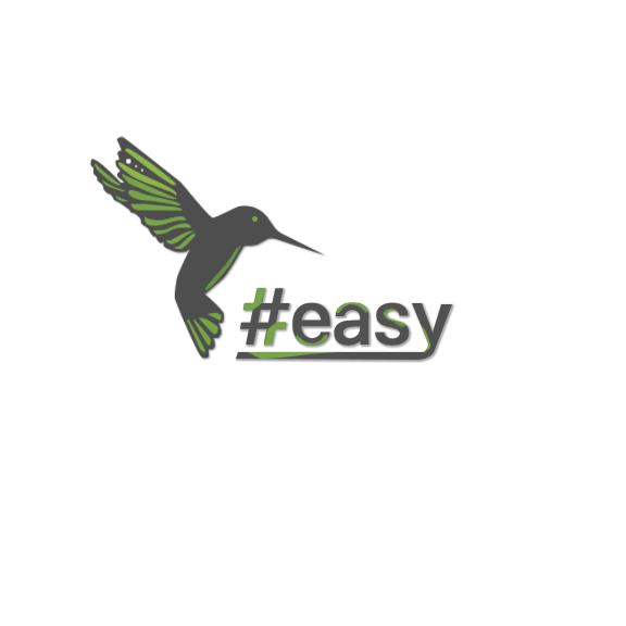 Разработка логотипа в виде хэштега #easy с зеленой колибри  фото f_8345d4dbf7ace539.png