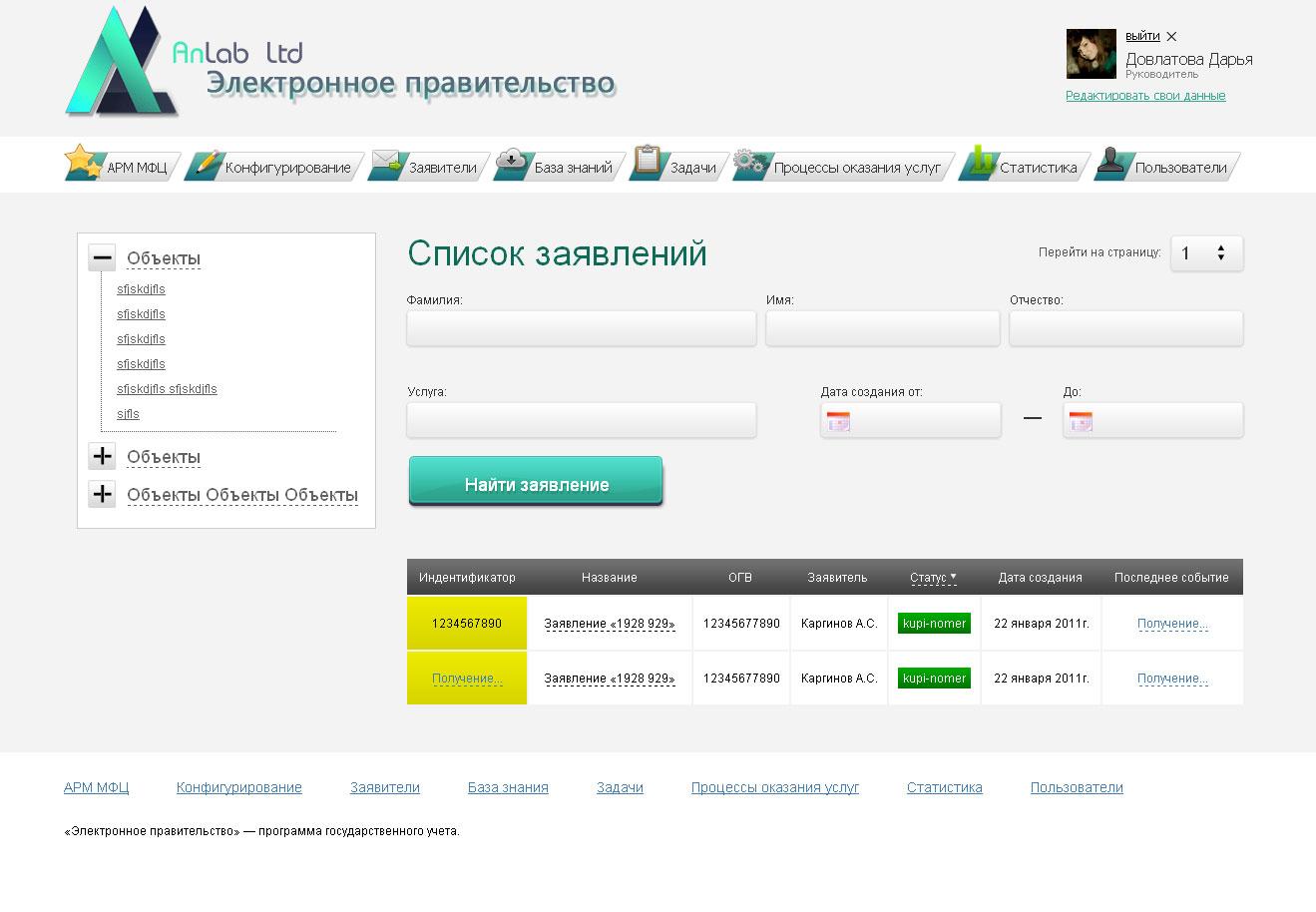 электронное правительство (компания Anlab)