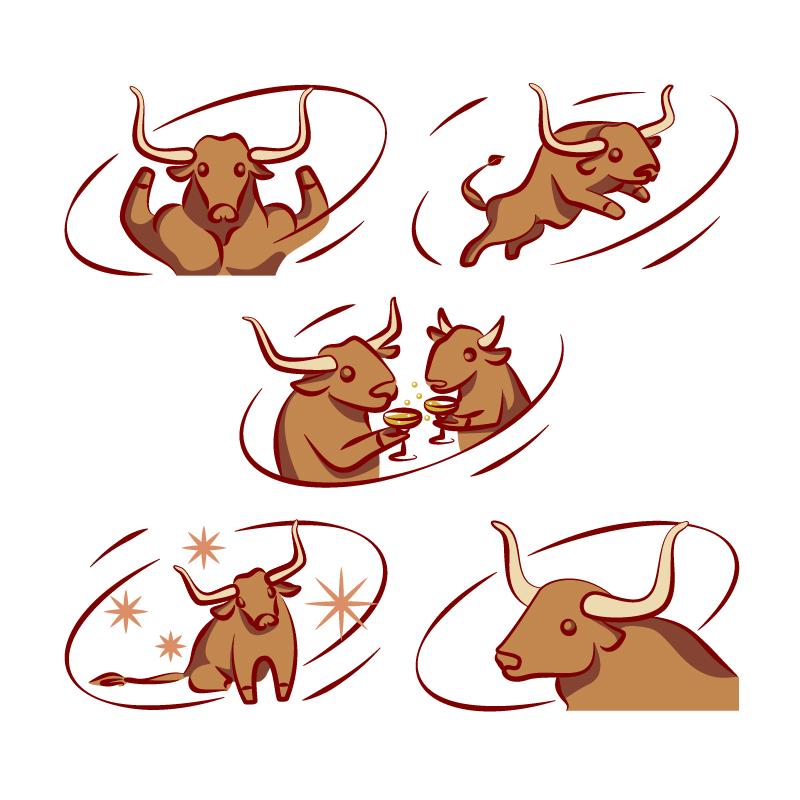 Создать рисунки быков, символа 2021 года, для реализации в м фото f_0935ef33c3f0f719.jpg