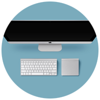 iMac - обработка с фото.