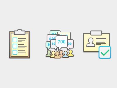 Контурные плоские и цветные объемные иконки — категории и виды работ [9]