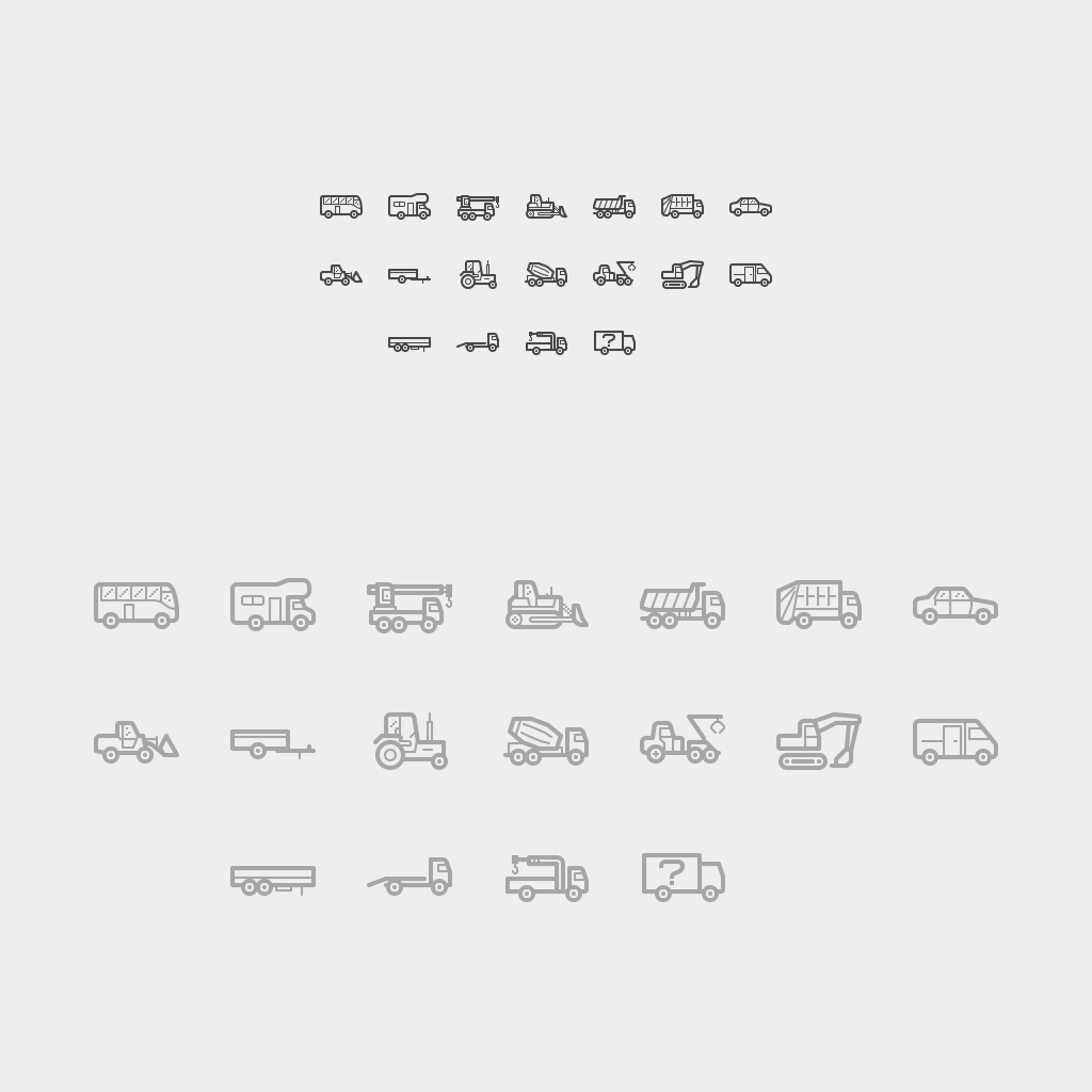 Строительная техника • Линии • Pixel perfect • 18 шт.