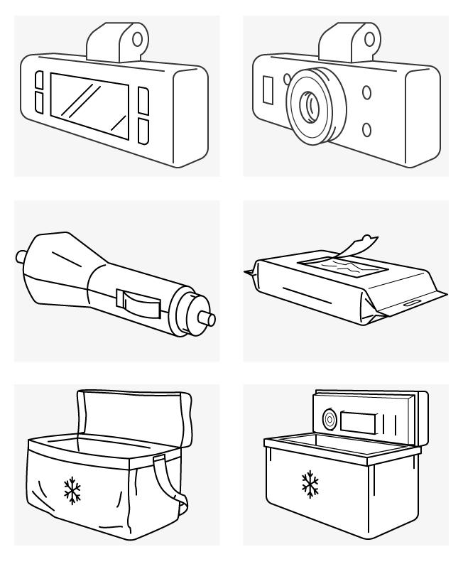 Техника и авто-аксессуары • Линии • 3D • 6 шт.