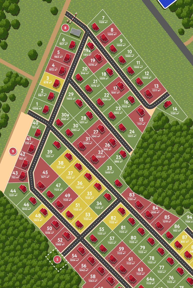 План коттеджного поселка