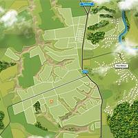 Карта местности в реалистичном стиле