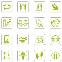 Характеристики массажных кресел • Заливка • Линии • 30+ шт.