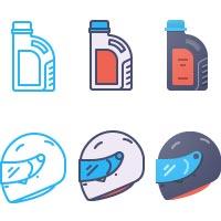Картинг • Иконки в нескольких стилях • >8 шт.