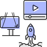 Интерактивная реклама • Цветные • 4 шт.