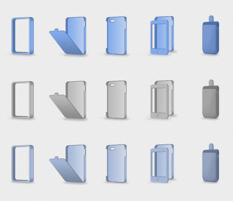 Цветные объемные иконки — чехлы для смартфонов [5]