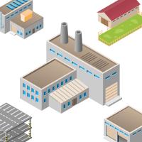 Здания, промышленность • 3D • Цветные • 8 шт.
