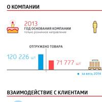 Инфографика для сайта компании