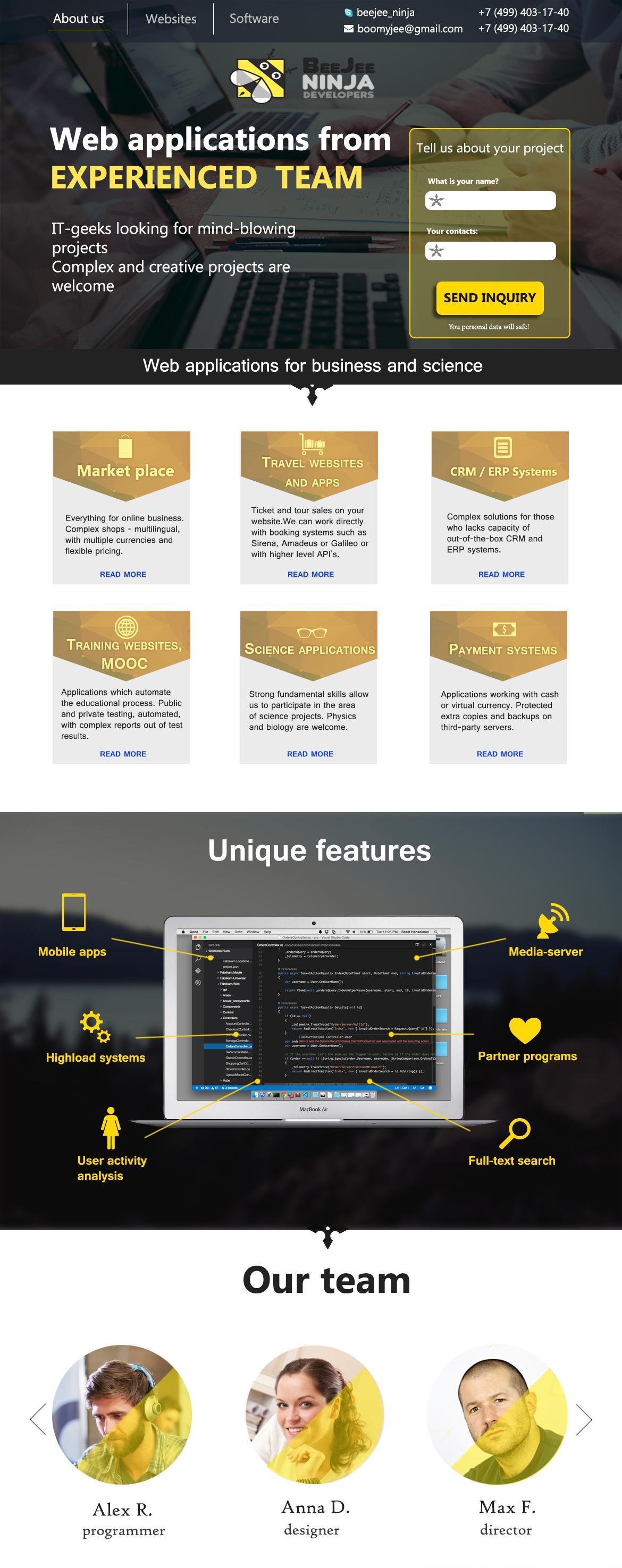 Концепт дизайна сайта в корпоративном стиле для IT компании фото f_4355958ed19e1fbc.jpg