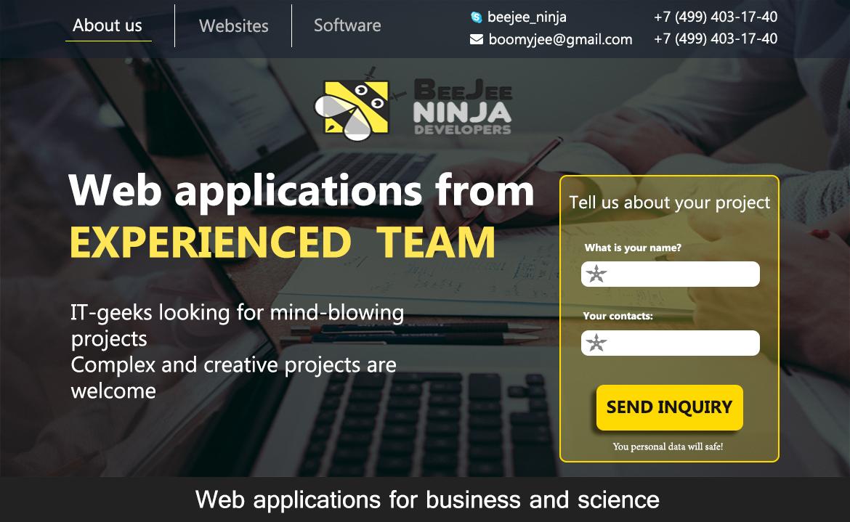 Концепт дизайна сайта в корпоративном стиле для IT компании фото f_4565958ed1510553.jpg