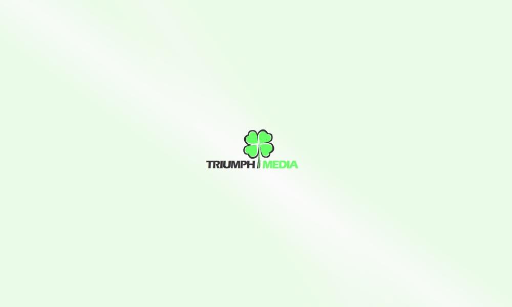 Разработка логотипа  TRIUMPH MEDIA с изображением клевера фото f_506ee470e9154.jpg