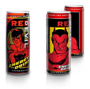 """Редизайн торговой марки  """"Red Devil """", энергетического напитка."""