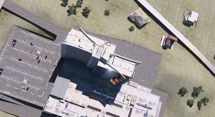 3D визуализация архитектурного проекта торгового комплекса