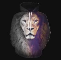 анимация статического изображения льва.