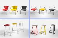 визуализация 3D моделей стульев