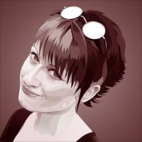 Автопортрет в векторе, отрисовка по фотографии