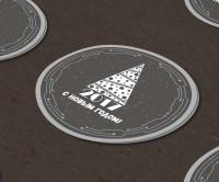 Новогодние этикетки-наклейки для черных коробок (хай тек)