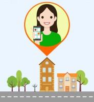Флэт-иллюстрация для мобильного приложения