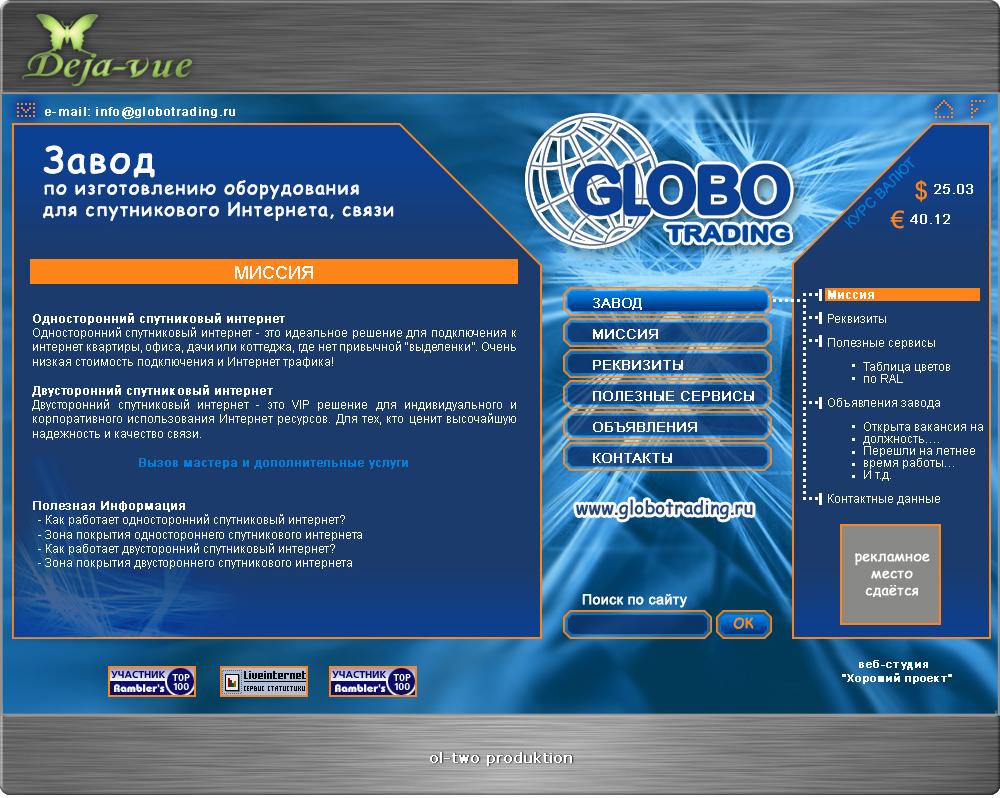компании GLOBO Trading