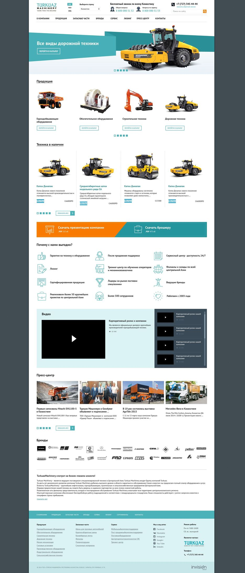 Адаптивная верстка - Turkuaz Machinery