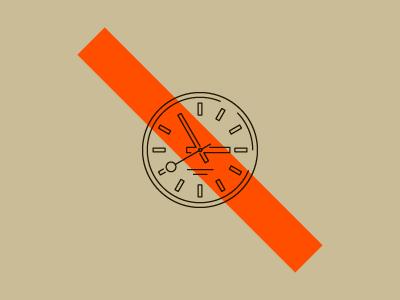 Это большие часы на фиолетовом.