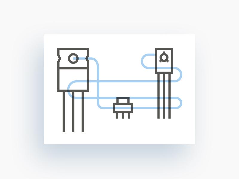 Набор линейных иллюстрированных иконок для каталога ИМ Радиомаркет.