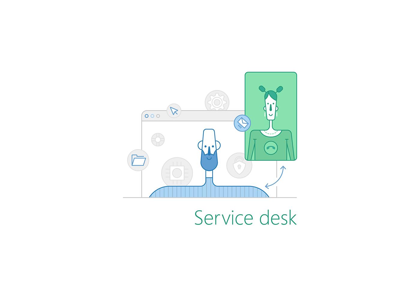 Vector illustration Service Desk